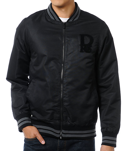 Dravus Higher Learning Black Varsity Jacket