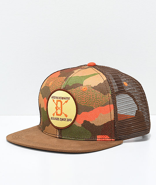 Dravus Hunters Camo Brown Trucker Hat