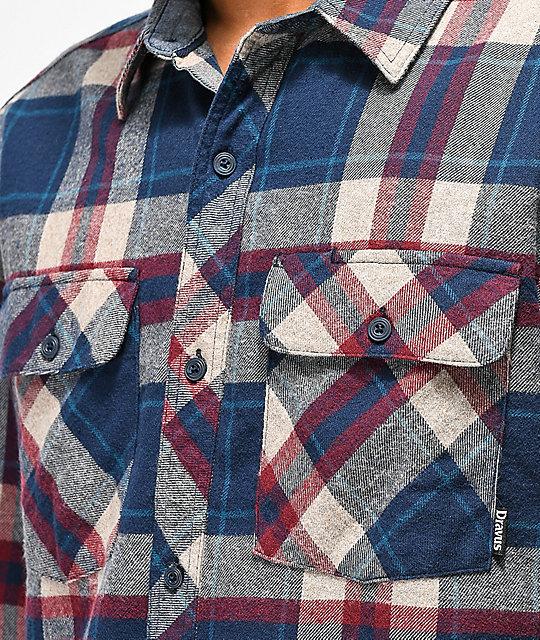89281e318e7 ... Dravus Jubal Burgundy   Blue Flannel Shirt