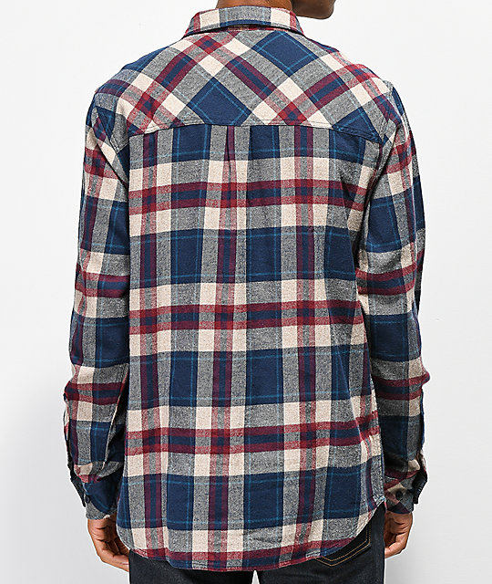 445a7ab07fd ... Dravus Jubal Burgundy   Blue Flannel Shirt ...
