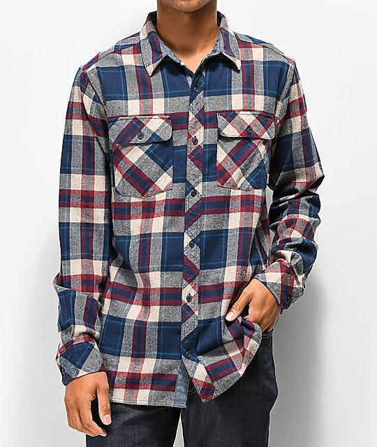 f41c9fd8cff Dravus Jubal Burgundy   Blue Flannel Shirt