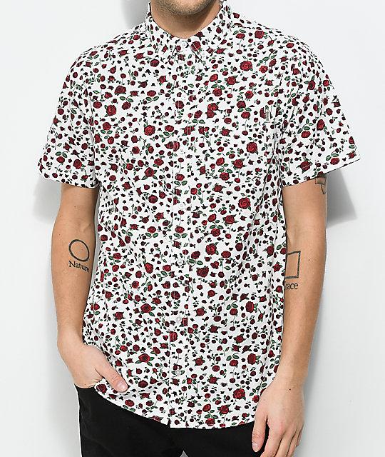 Dravus Landon Floral White Short Sleeve Shirt Zumiez