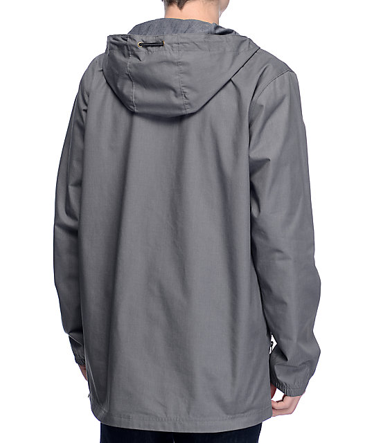 Dravus Limits Charcoal Heather Anorak Pullover Jacket