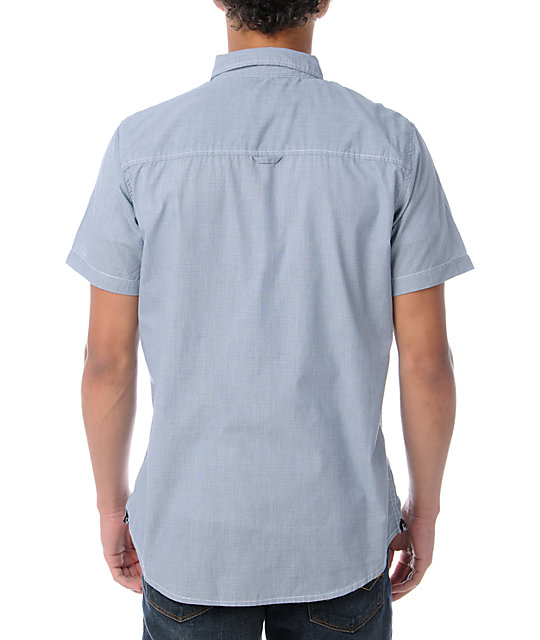 Dravus Locs Light Blue Short Sleeve Button Up Shirt