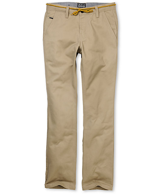 Dravus Narrows Slim Fit Khaki Chino Pants