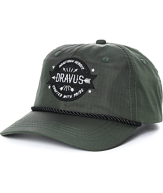 Dravus Nials Unstructured Olive Snapback Hat