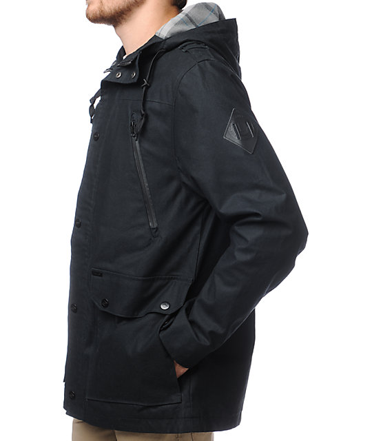 Dravus Outpost Black Twill Jacket