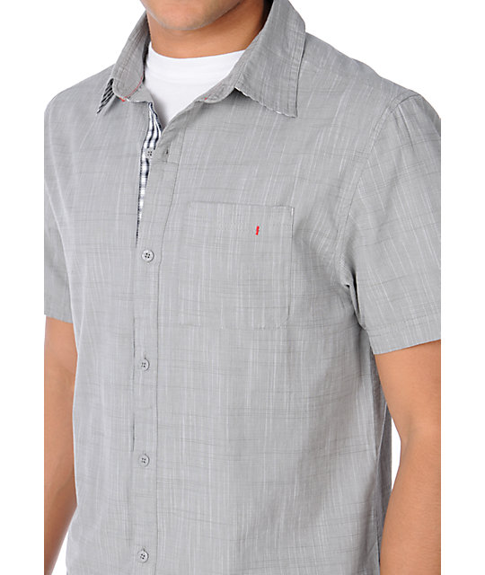 Dravus Punch Grey Woven Shirt