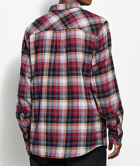 Dravus Richard Burgundy & Black Flannel Shirt
