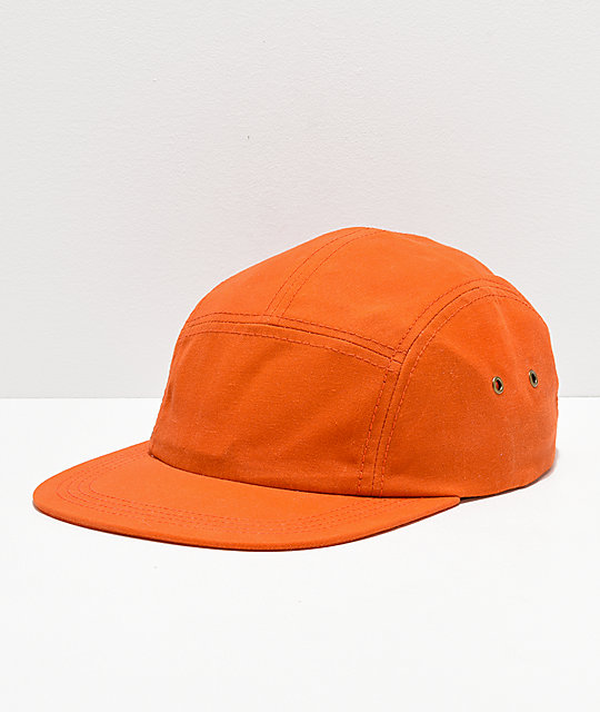 Dravus Safety Waxed Orange Strapback Hat