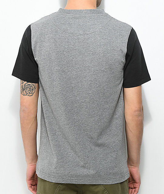Dravus Sail Black & Grey Pocket T-Shirt