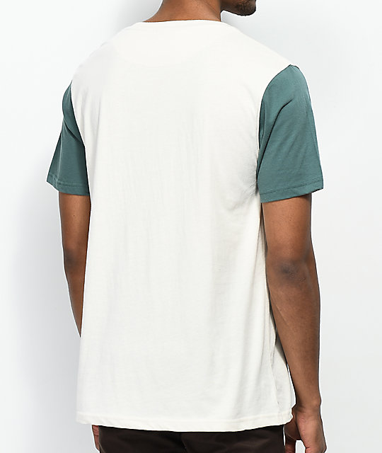 Dravus Sail Cream & Green Contrast Pocket T-Shirt