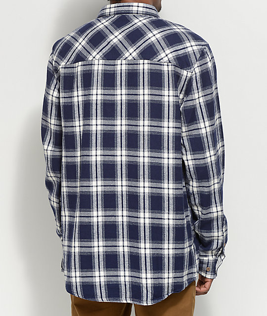 Dravus Scott Navy & White Flannel Shirt
