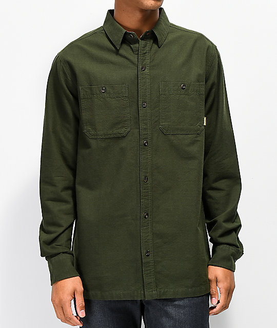 Dravus Spruce Dark Green Flannel Shirt