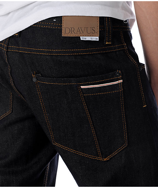 Dravus Standard Selvage Raw Wash Regular Fit Jeans