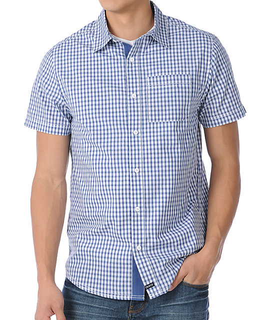 6c1bcda5c8 Dravus Thump Blue Short Sleeve Woven Shirt