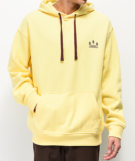 Dravus Wash Out Yellow Hoodie