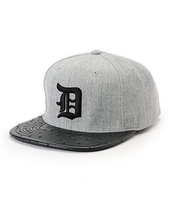 9d70d7fe8dc5e Dravus Whiplash Light Grey   Black Snapback Hat