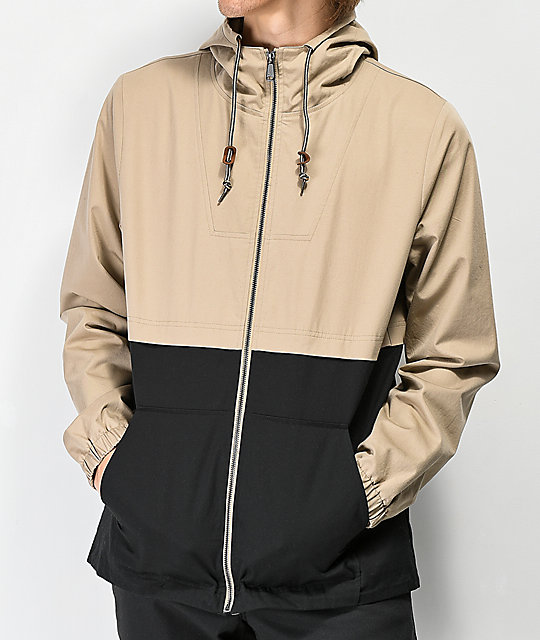 Dravus Winds Khaki & Black Anorak Jacket