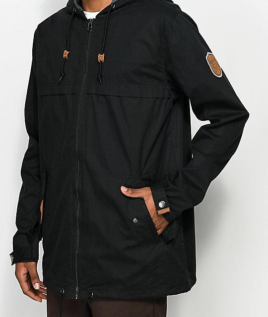 ... Dravus Woodland Black Full Zip Jacket