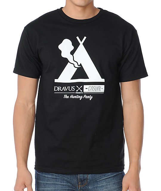 Dravus x Casual Industrees Tent Black T-Shirt