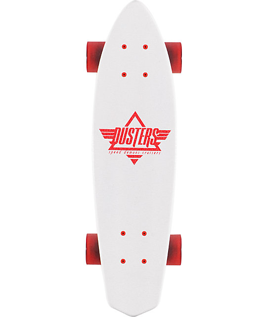 "Dusters Ace White 23.5""  Complete Cruiser Board"