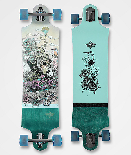 "Dusters Giant 38"" Drop Down Drop Through longboard completo"