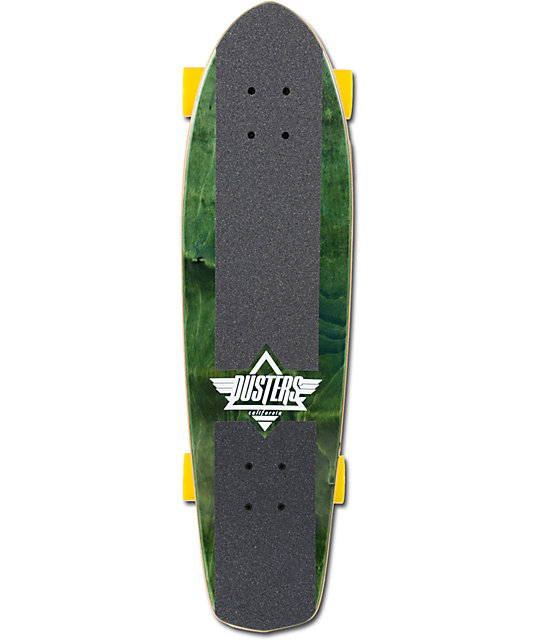 "Dusters Keen 31""  Green & Yellow Complete Cruiser Skateboard"