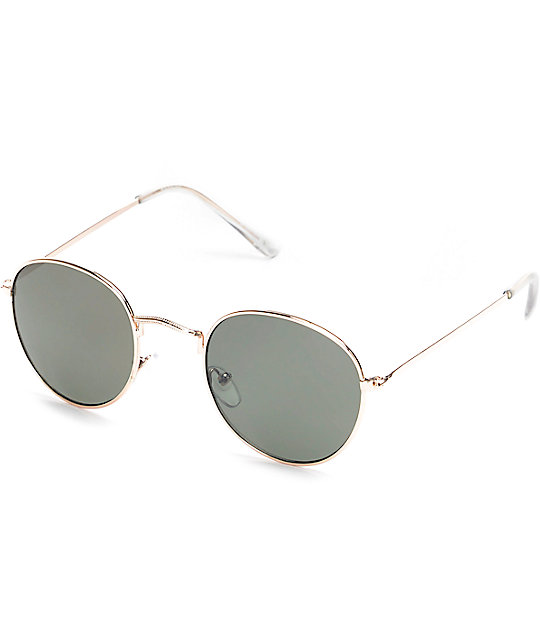 2030abd9b52 Dyllon Gold Metal Frame Sunglasses