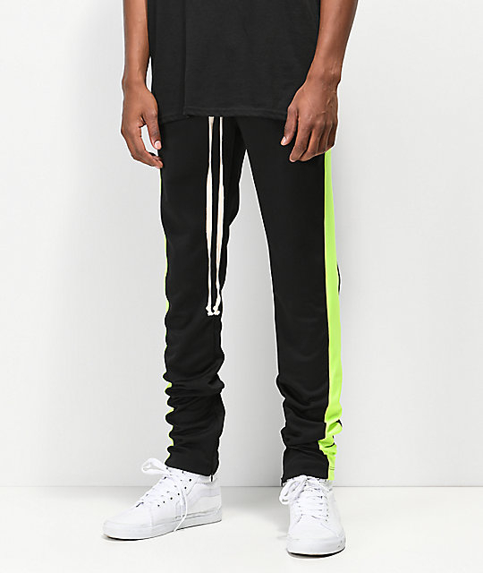 32aa070d338df EPTM Neon Green Striped Track Pants