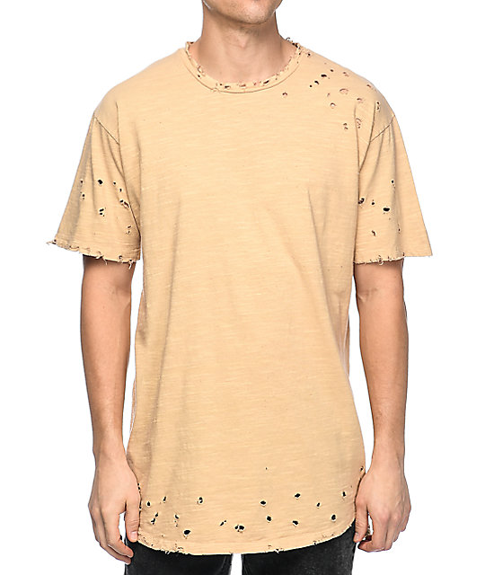 EPTM Slub OG 2.0 Beige Elongated T-Shirt