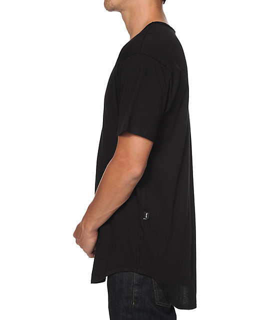 EPTM. Basic Elongated Drop Tail Long T-Shirt
