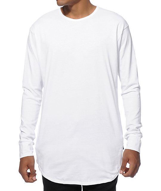 EPTM. Elongated Basic Drop Tail Long Sleeve T-Shirt  fc444b73fcc9