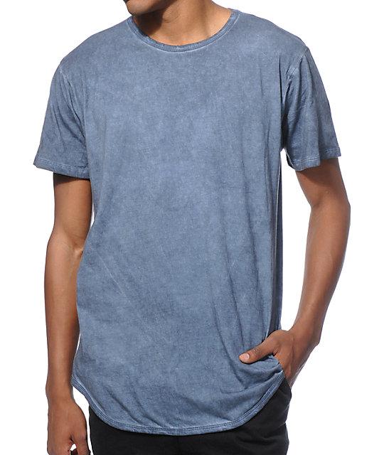 617fae42f93 EPTM. Elongated Basic Drop Tail Oil Wash T-Shirt