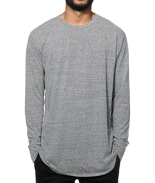 EPTM. Elongated Basic Long Sleeve Long T-Shirt  debc16da396