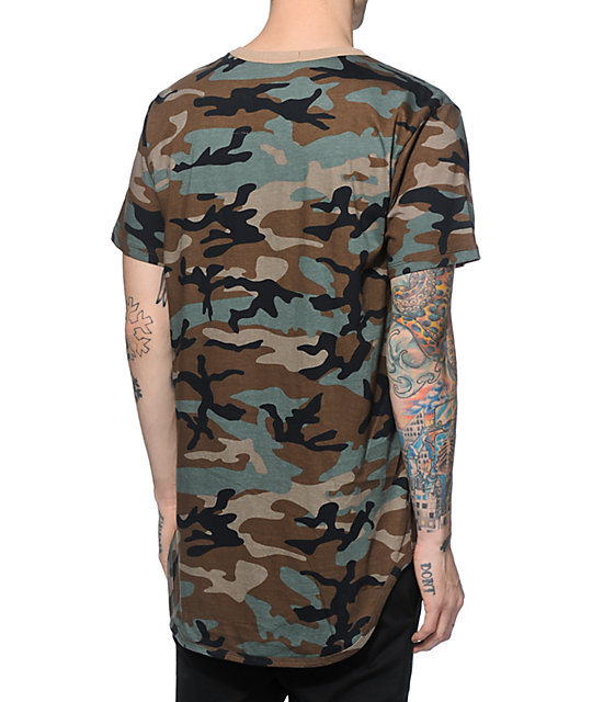 EPTM. Elongated Camo Long T-Shirt