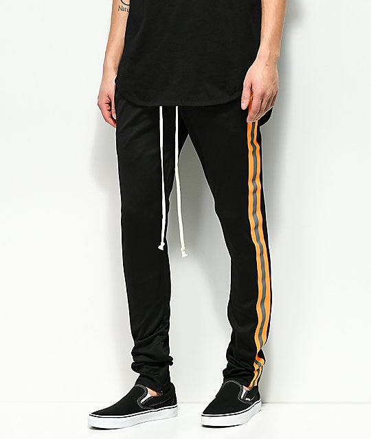 d03e2d93 EPTM. Reflective Black & Orange Track Pants | Zumiez