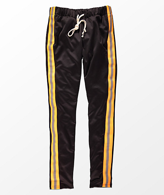 EPTM. Reflective Black & Orange Track Pants