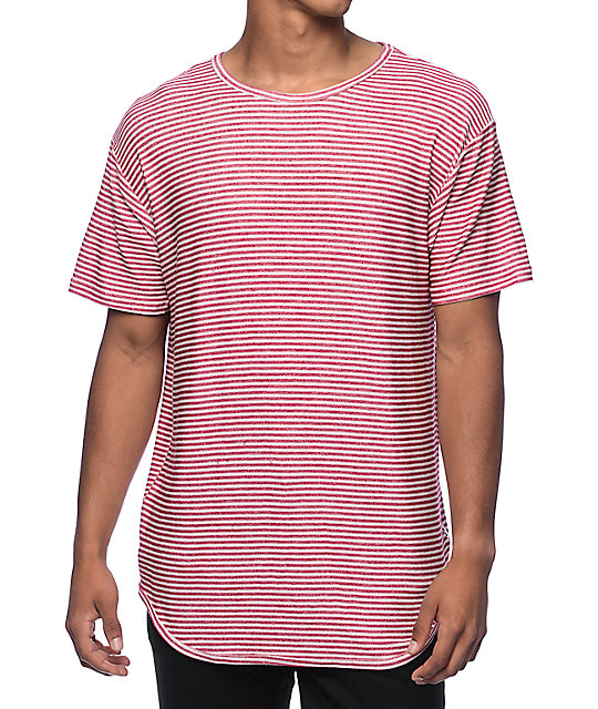 9cc4b8c1f5c EPTM. Stripe French Terry Red Elongated T-Shirt