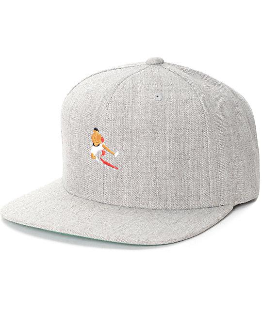 4bb83946c51 EVERYBODY SKATES Boxer Grey Snapback Hat