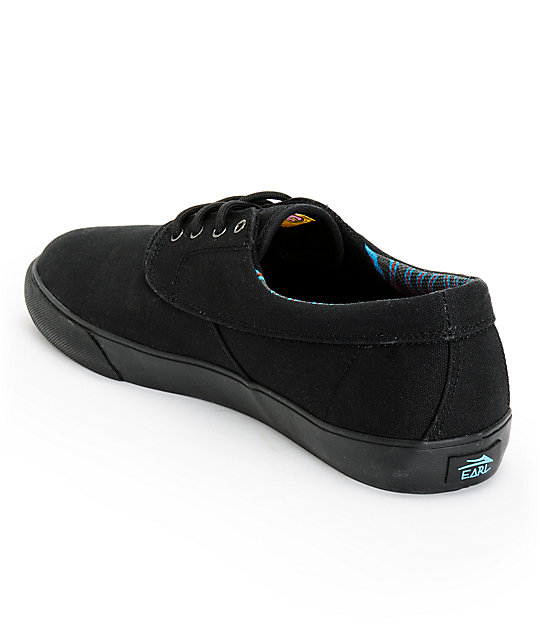 edfe129b73cf ... Earl Sweatshirt x Lakai Camby All Black Canvas Skate Shoes ...
