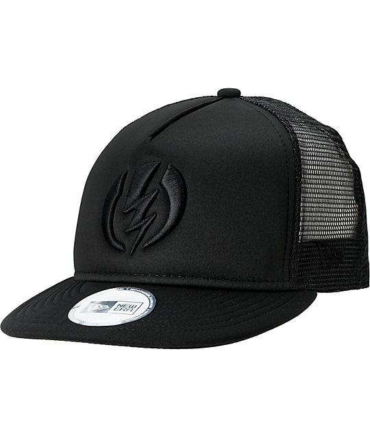 Electric 18 Wheeler Black Trucker New Era Hat