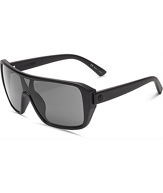 Electric Blast Shield Matte Black & Grey Sunglasses