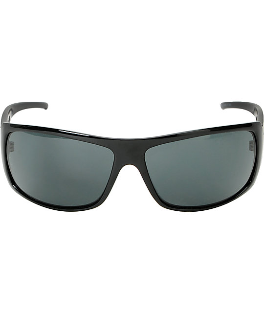 Electric Charge XL Gloss Black & Grey Sunglasses
