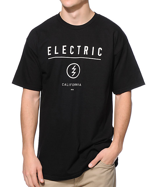Electric Corporate Identity Black T-Shirt