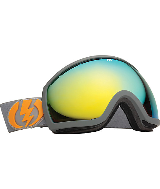 Electric EG2 Panzer Grey Grey & Gold Snowboard Goggles