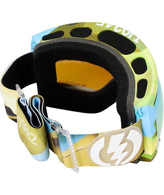 Electric EG2.5 Tank & Gold Chrome Snowboard Goggles