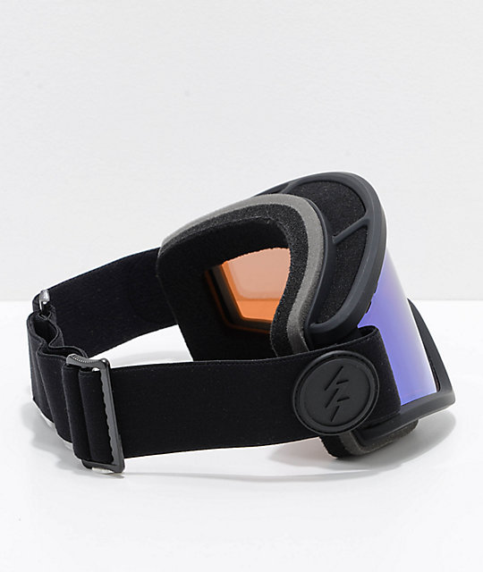 Electric EGV Matte Black Brose Blue Chrome Snowboard Goggles