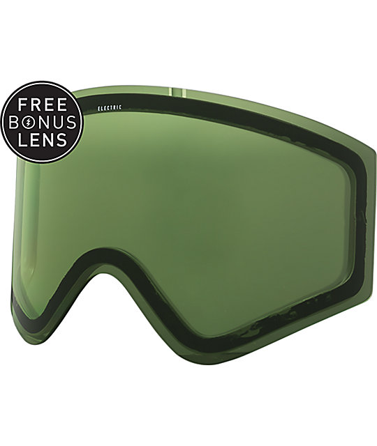 Electric EGX Hunter Green Silver Chrome Snowboard Goggles