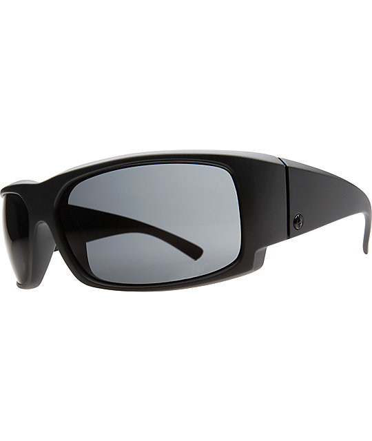 Electric Hoy Inc Matte Black & Grey Polarized Sunglasses